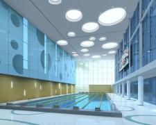 游泳馆热身池大厅